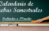 Calendario Pruebas Semestrales PK a IV°