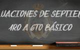 Evaluación Septiembre 1° a 6°