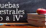 CALENDARIO DE PRUEBAS SEMESTRALES 7mo a IV°