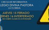 VIERNES 16 INTERFERIADO