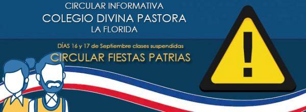CIRCULAR FIESTAS PATRIAS