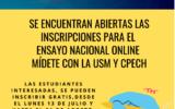 Ensayo Nacional Online MÍDETE U. Santa María y Cpech