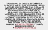 Beca Universidad de Chile
