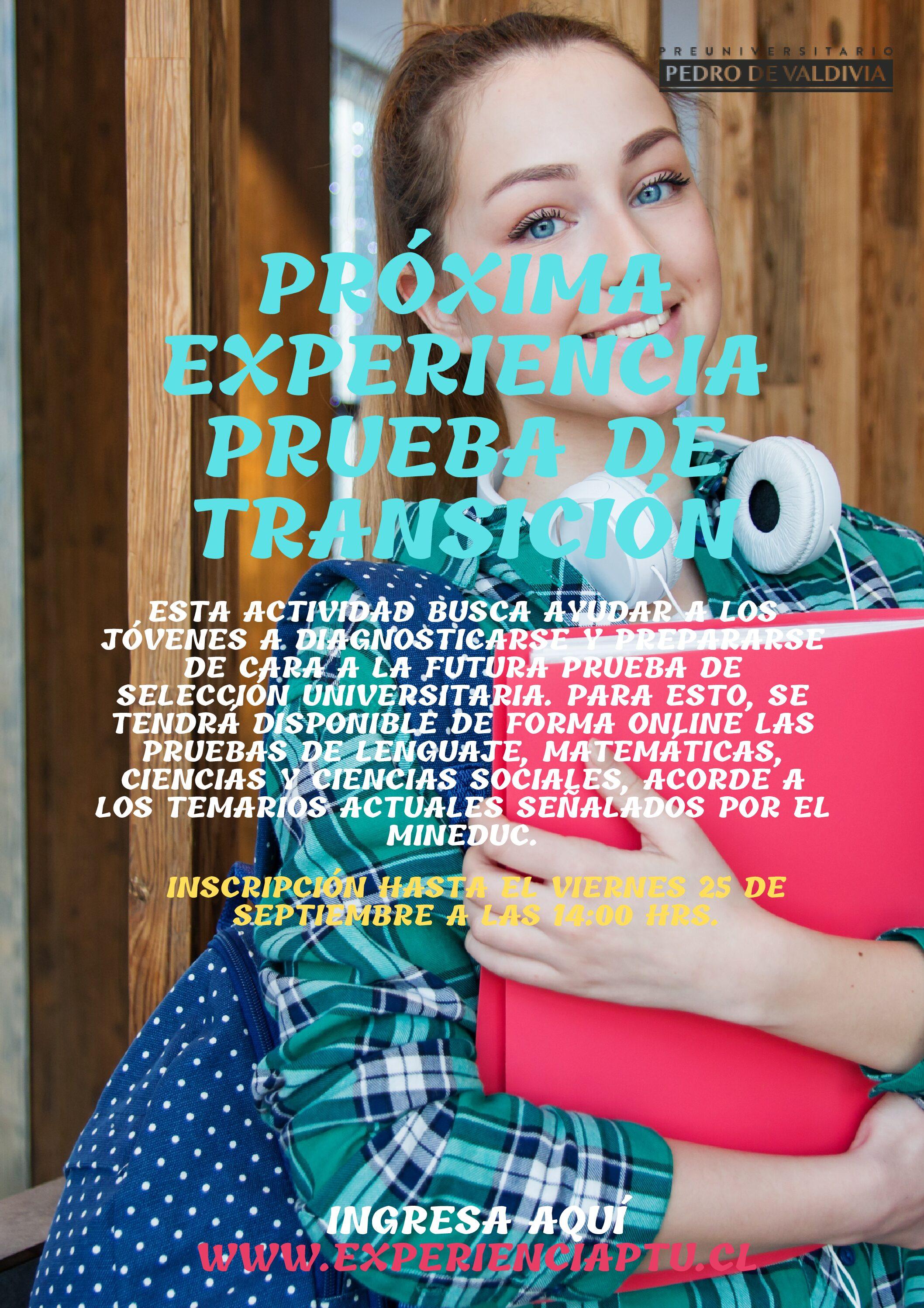 PDV - Experiencia Prueba de Transición