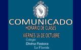 HORARIO DE CLASES  VIERNES 16 DE OCTUBRE