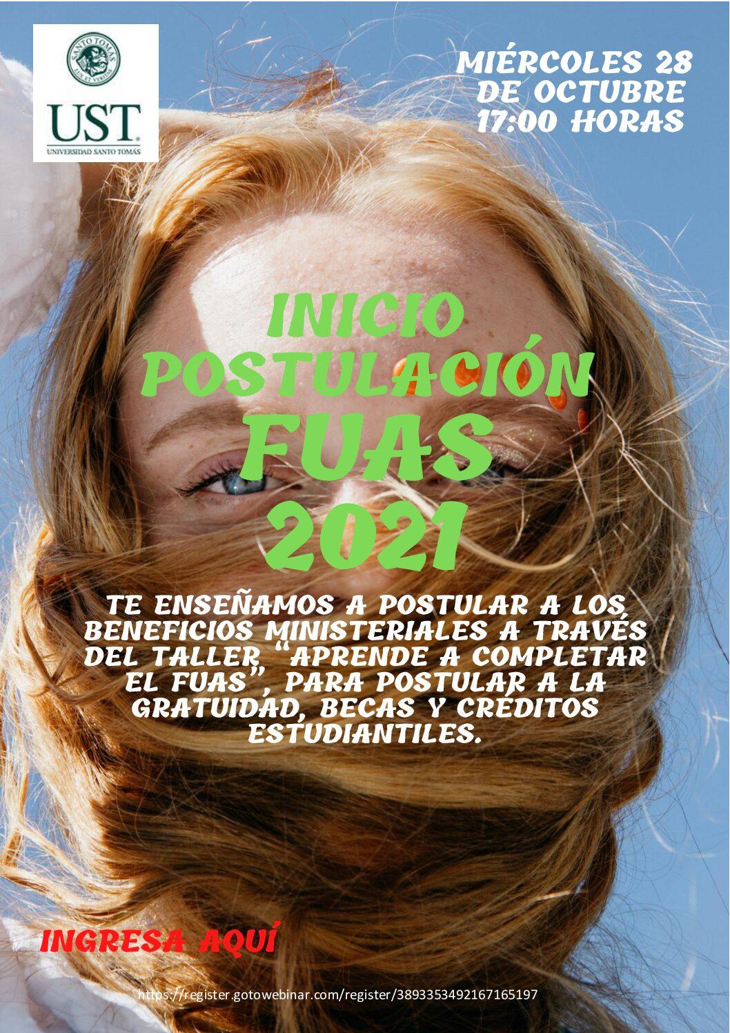 CHARLA: INICIO POSTULACIÓN FUAS 2021