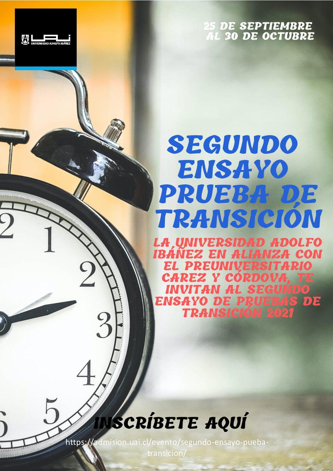 Segundo Ensayo Prueba de Transición UAI