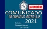 INFORMATIVO MATRICULAS 2021