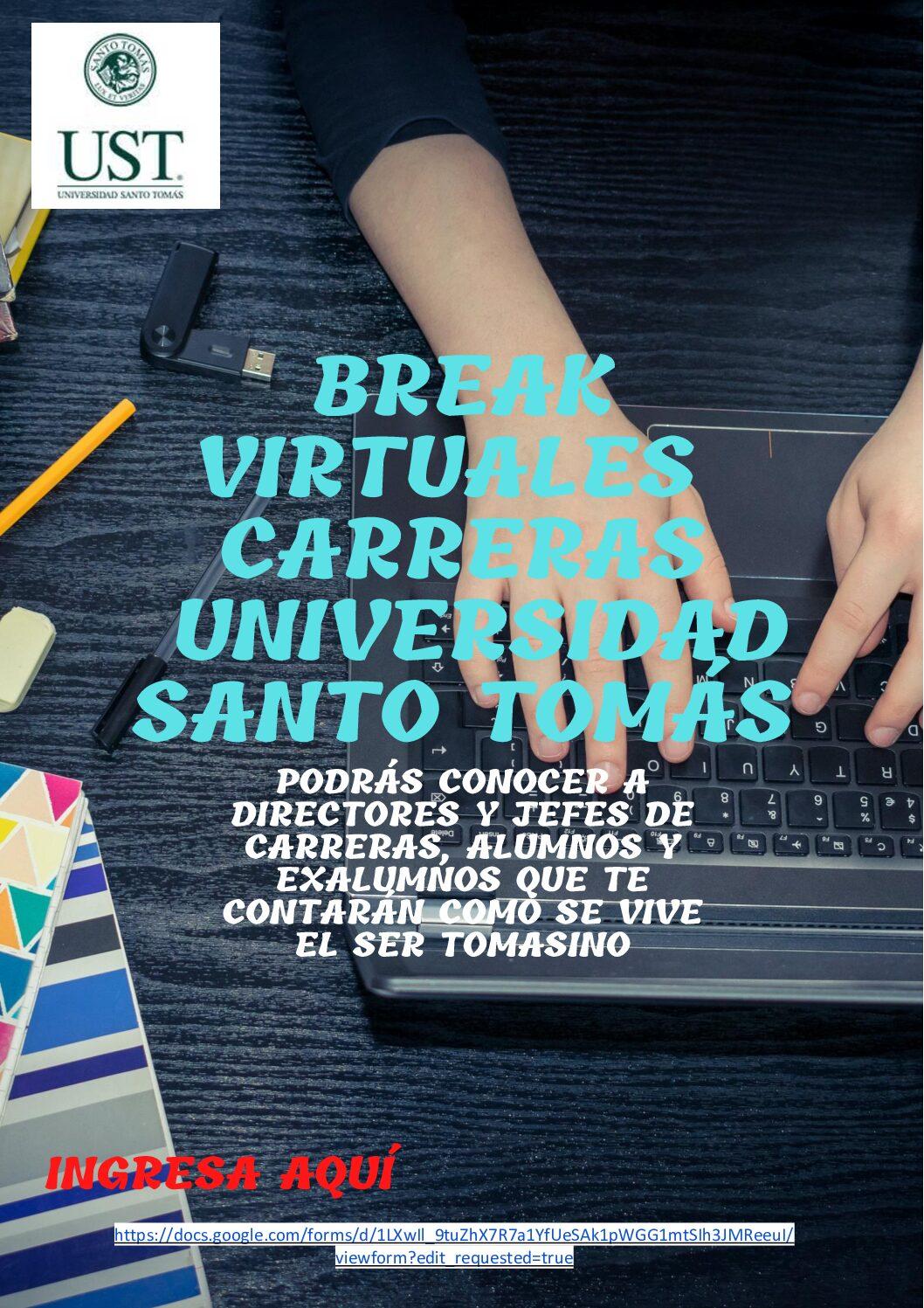 BREAK VIRTUALES CARRERAS - Universidad Santo Tomás