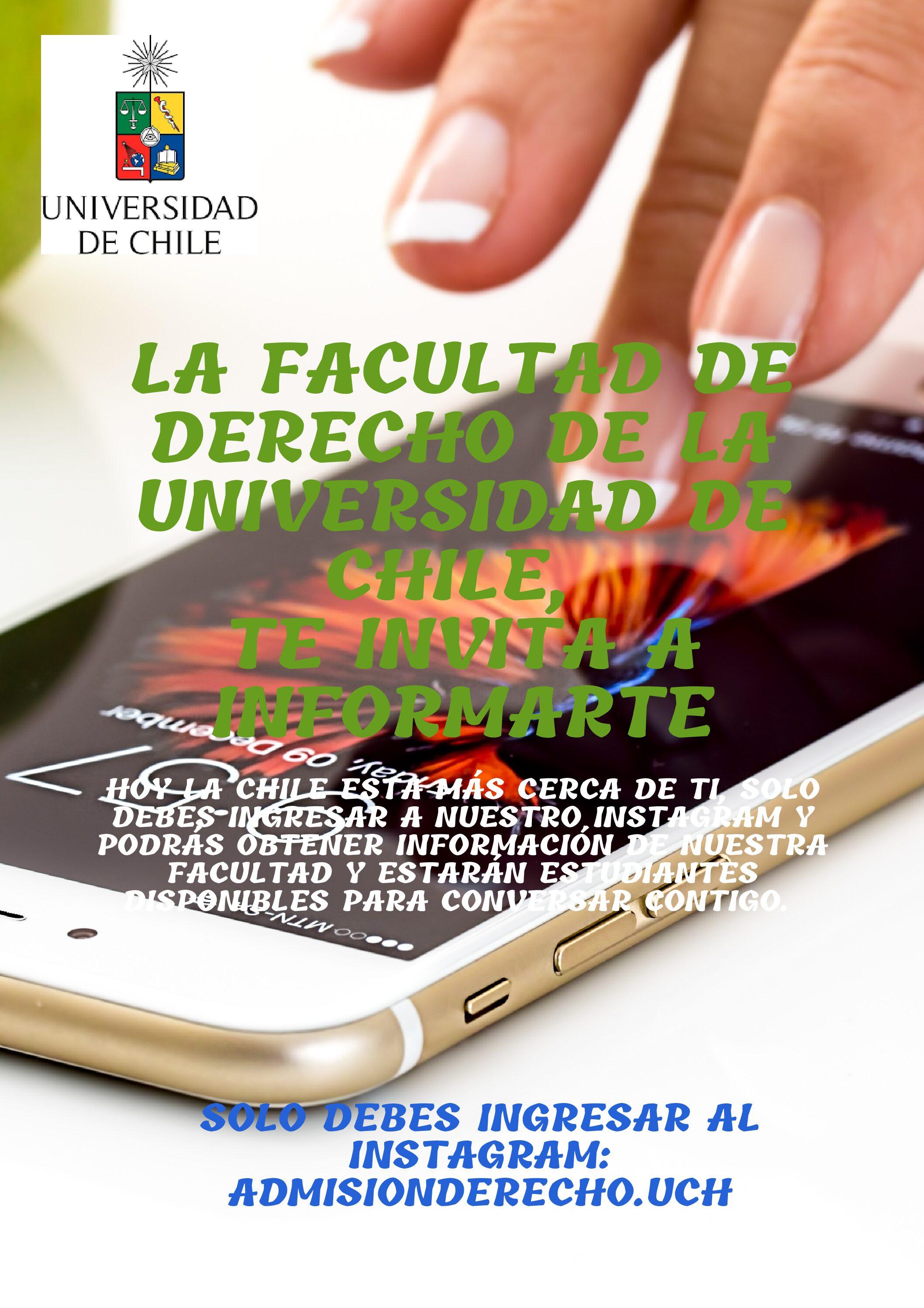 Infórmate sobre la Facultad de Derecho de la U. de Chile