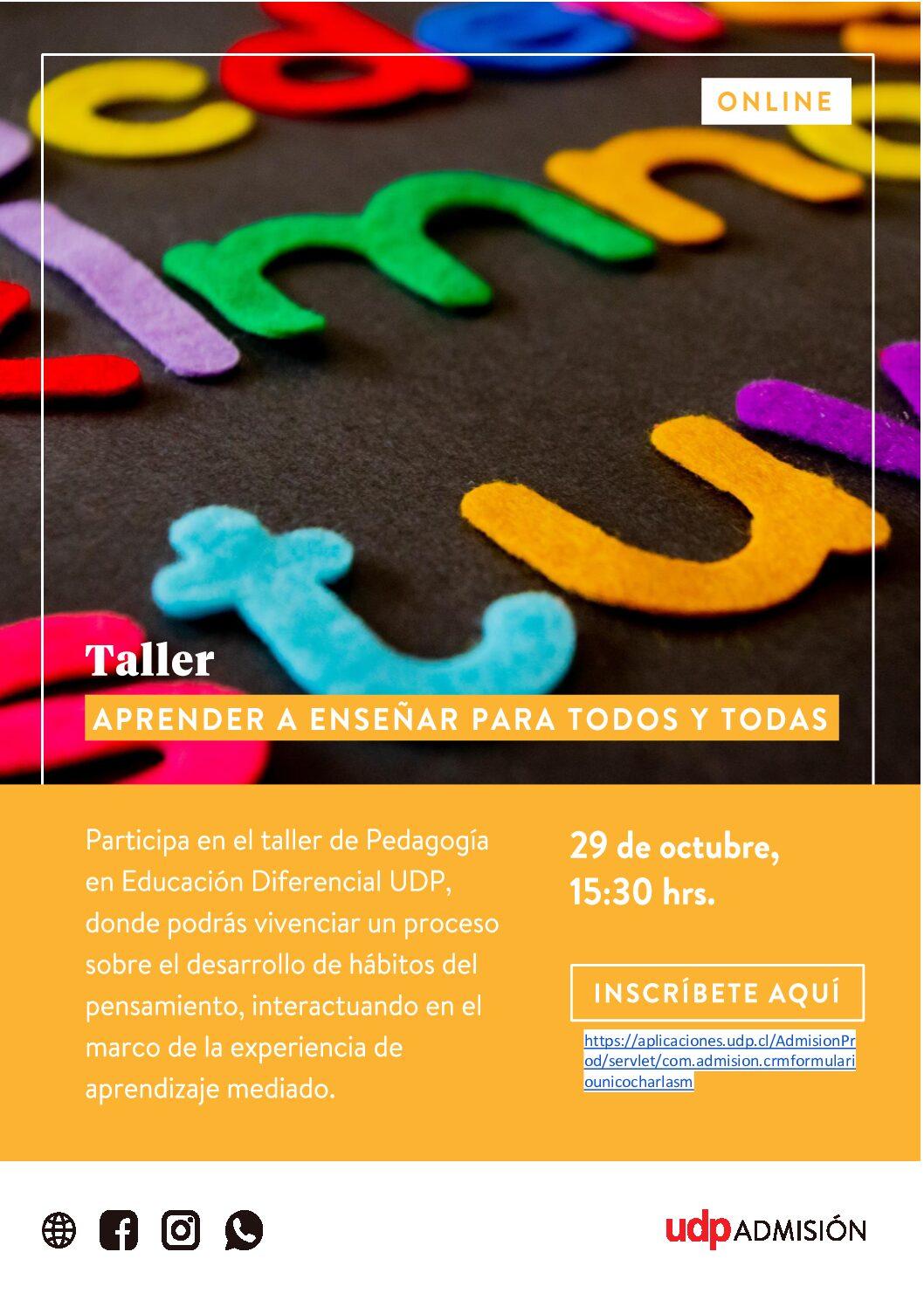 Taller Pedagogía en Educación Diferencial