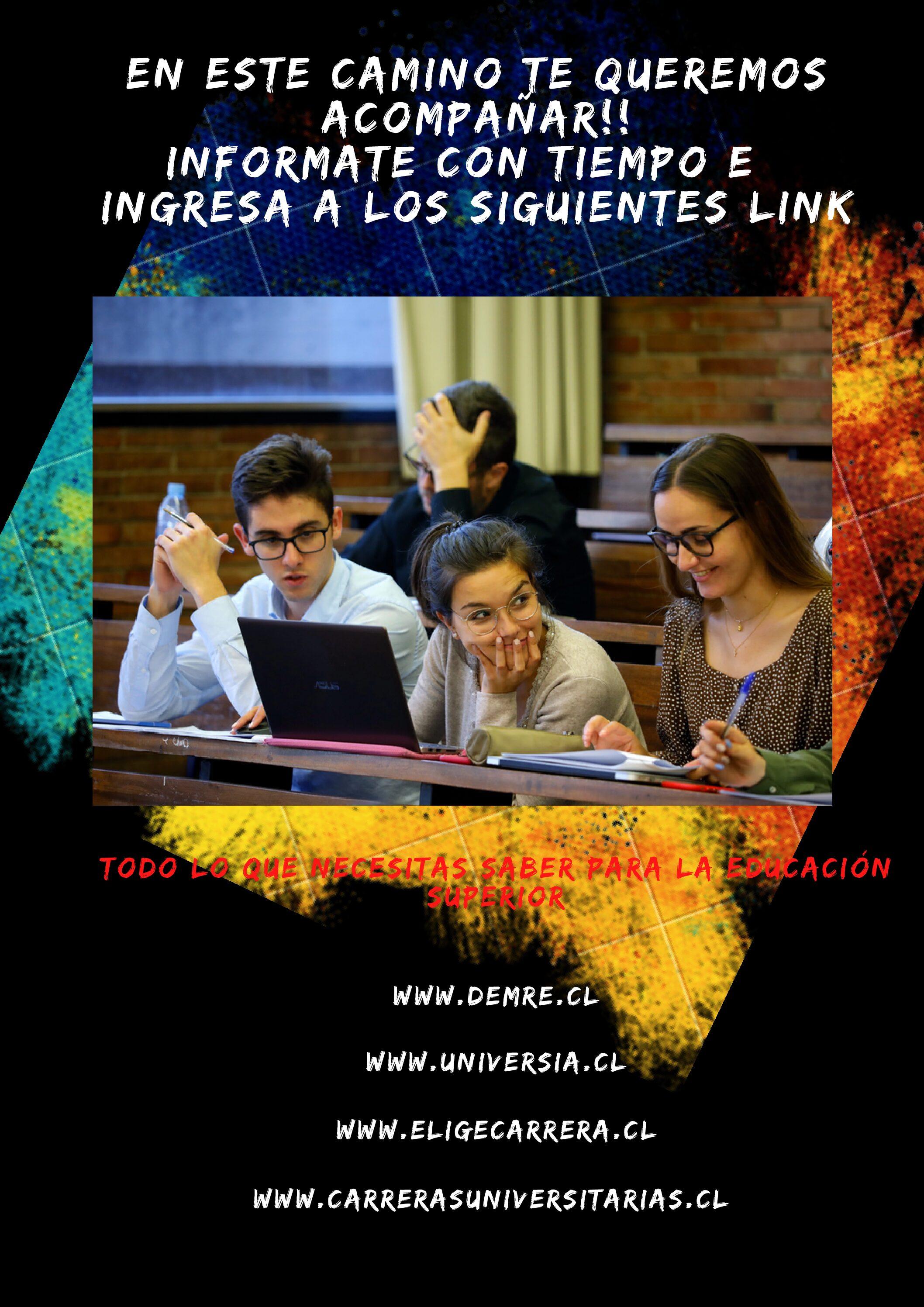 Información Carreras Educación Superior